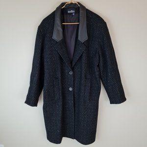 Vintage Hunter's Run Black Wool Coat Size 16